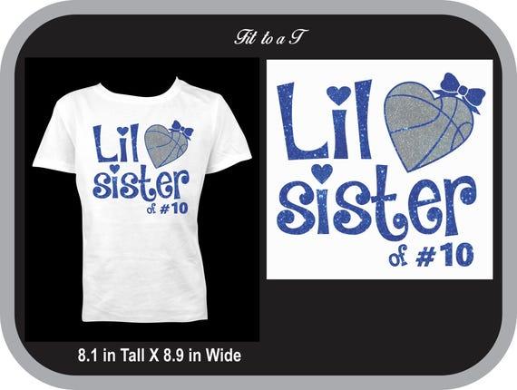 Esprit Etsy Porter Basket Numéro T Lil Soeur Shirt Usure Avec Des vz6vqxwC