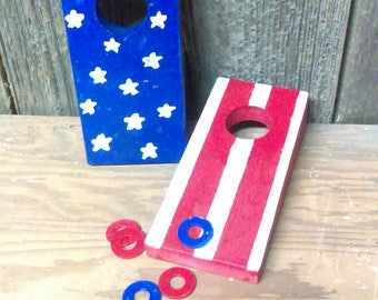 Hand Painted Coin Hole Game