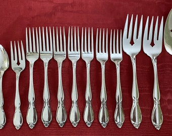 Oneida Community Chatelaine Stainless Four Salad Forks 4