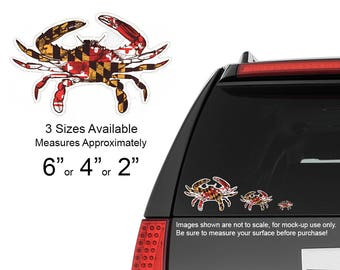 Maryland Flag Crab Vinyl Decal - Available in 3 sizes!