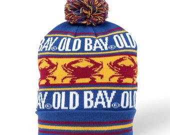 c04673ef9ee OLD BAY Crab Stripe Pom Knit Beanie