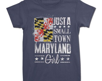 b429fdb630 Small Town Maryland Girl Tee