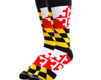 Maryland Flag Dress Socks