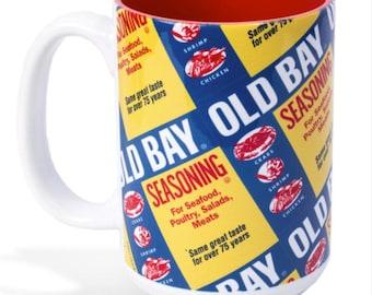 Old Bay Can Pattern 15oz Coffee Mug