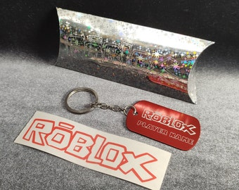 Personalised Roblox key ring dog tag with your player name engraved  game gamer birthday gamer gift