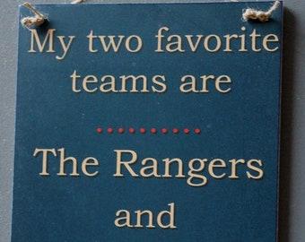 New York  Rangers Versus New York Islanders Hockey Sign Team Rivalry