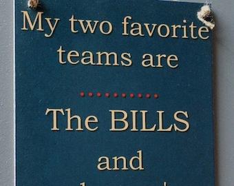 Buffalo Bills  Football Sign - Bills versus Patriots football sign