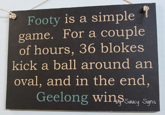 Geelong Cats Simple Game Sign Aussie Rules Footy Football Etsy