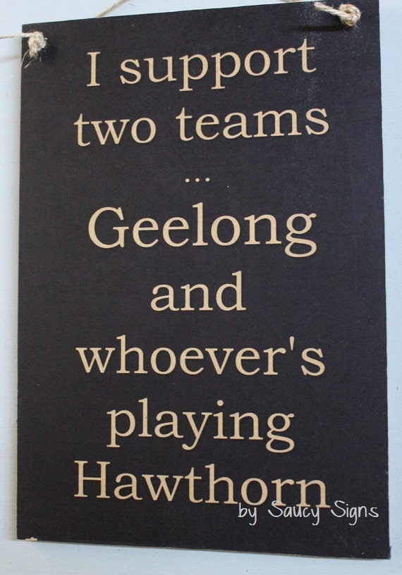 Geelong Cats Versus Hawthorn Sign Aussie Rules Footy Etsy