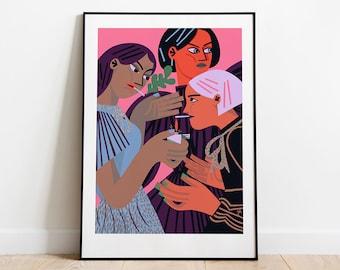 Art print: Gotta light? Fine art giclee print on archival paper. Illustration. 50x70, 40x50, 30x40 cm. Poster. Painting.