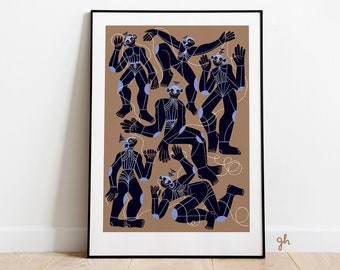 Modern wall art: Fables for Robots/ Modern painting print / Book illustration/ 50x70, 40x50, 30x40 poster / Polish poster art