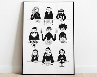 Modern wall art: You Are What You Eat/ Minimalist print / Modern painting print / 50x70, 40x50, 30x40 poster / Polish poster art