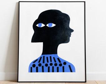 Original painting on paper // Worries // Gouache on paper // Original artwork by Gosia Herba