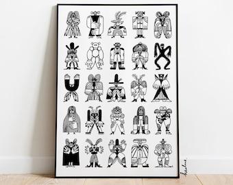 Modern wall art: Kingdom / Minimalist print / Modern painting print / 50x70, 40x50, 30x40 poster / Polish poster art