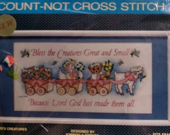 Sunset Count Not Cross Stitch Kit God's Creatures, super sweet quick kit