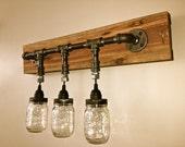196 Hnliche Artikel Wie Mason Jar Vanity Light Mason Jar Wall Light Fixture Wall Light Vanity
