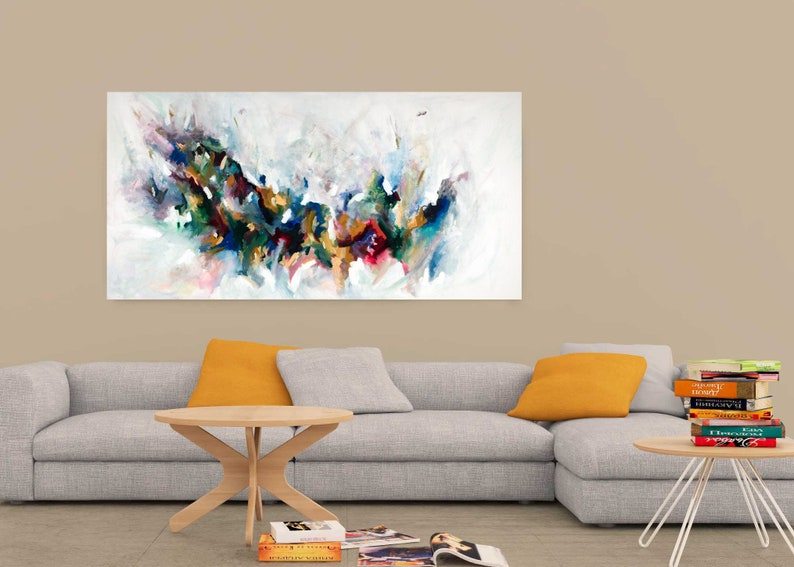 Small to large abstract landscape on paper or canvas by image 0