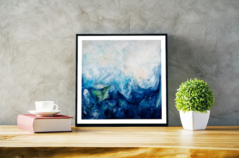 Framed Small Ready To Hang Paintings. Abstract Expressionist image 0