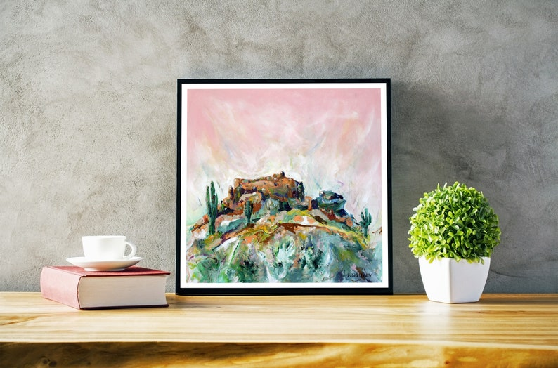 Contemporary canvas and paper prints by ThienArt. Square fine image 0