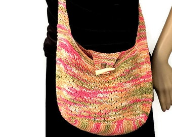 Scottish Wildflower Messenger Bag Diana Gabaldon Crocheted Neckwarmer