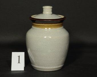 Sourdough Crock, Sourdough Jar, Storage Jar, Canister, Fermentation Crock, Pint Jar, Pint Crock  in Electric Shino Glaze