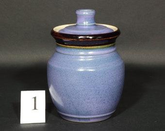 Sourdough Crock, Sourdough Jar, Storage Jar, Canister, Fermentation Crock, Pint Jar, Pint Crock  in Purple Glaze