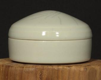 Porcelain Box, Ceramic Box, Thrown Box in Clear Glaze