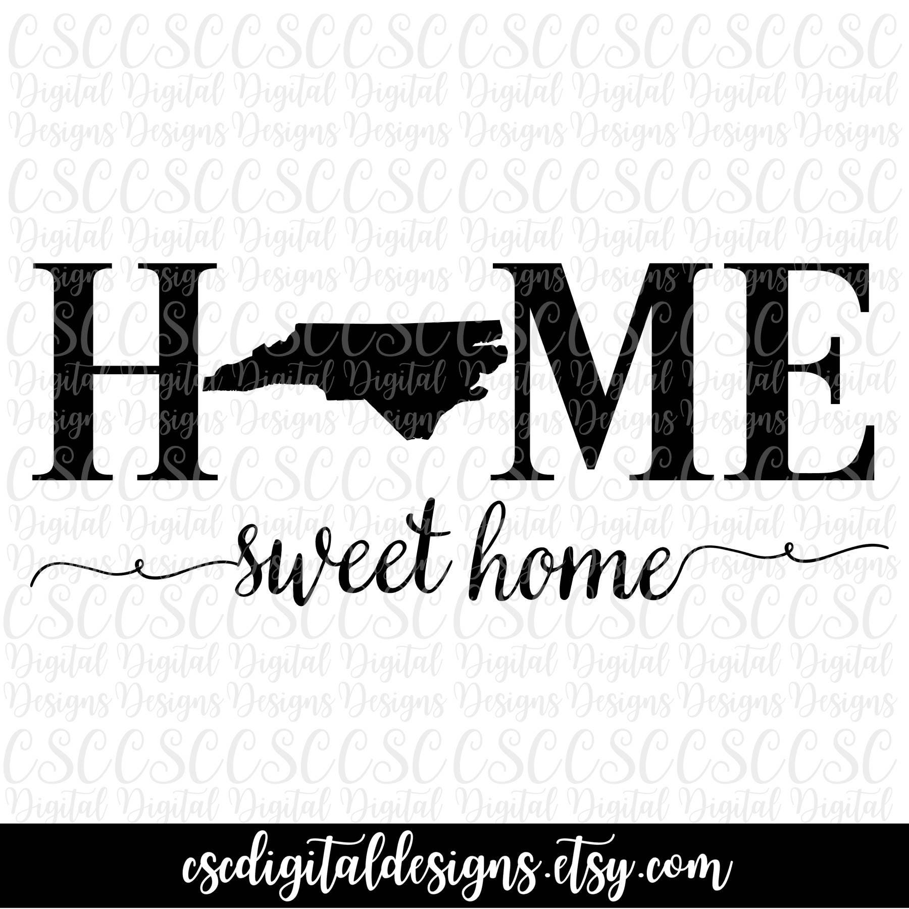 North Carolina SVG Home Sweet Home Cutting File North | Etsy