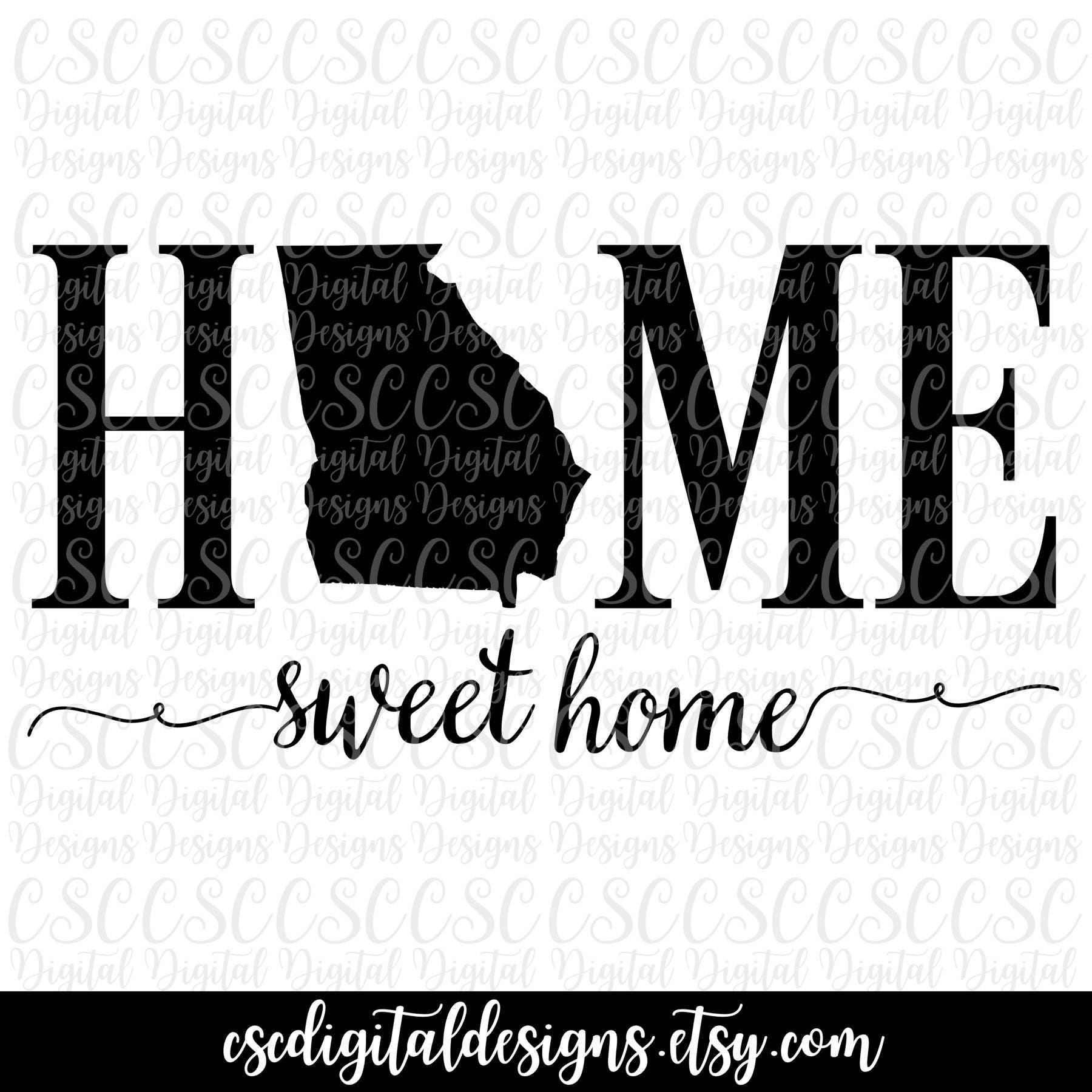 Georgia SVG Home Sweet Home Cutting File Georgia svg File | Etsy