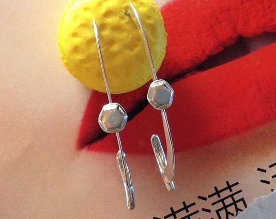 long hoop earrings | fashion earrings | sterling silver hoops | handmade earrings