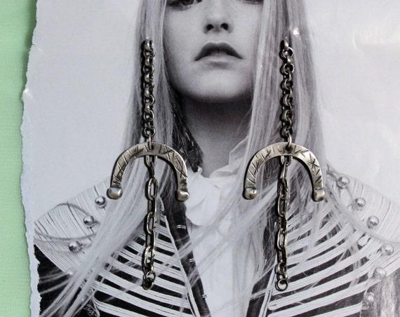 boho earrings | long hippy earrings | oxidized earrings | long drop earrings