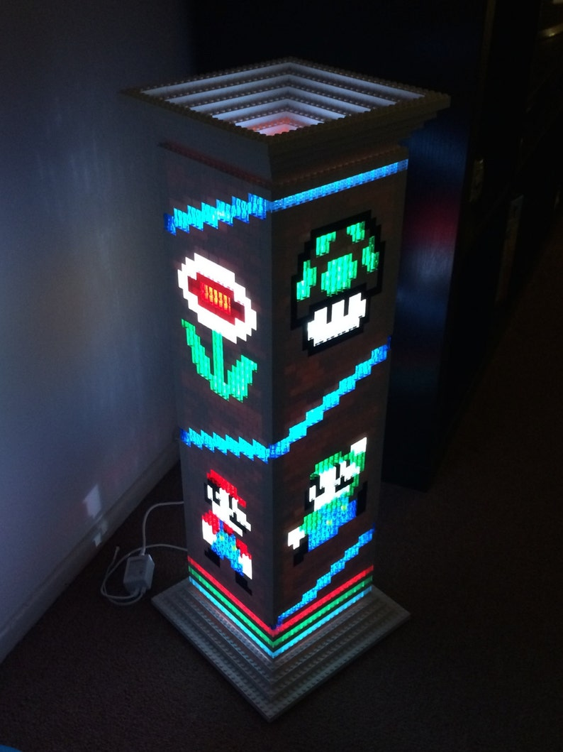 Mario Brothers themed Lego lamp/night light image 0