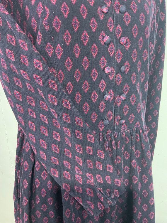 Vintage 1980s Laura Ashley Corduroy Dress Size 14