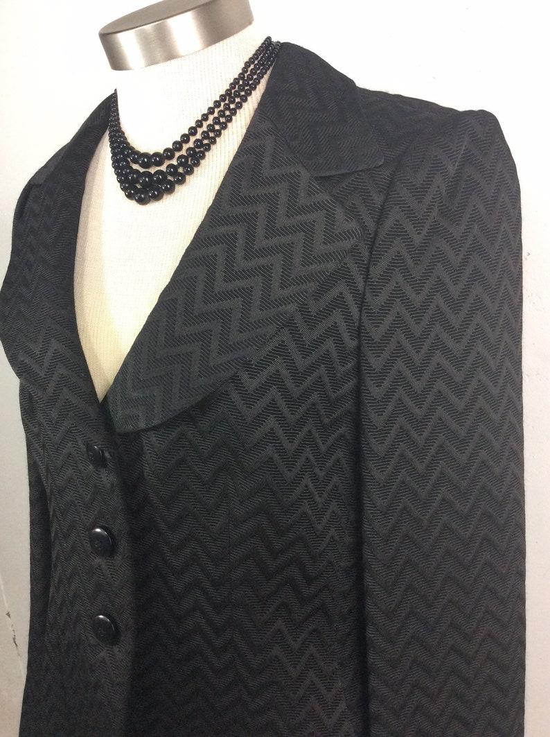 c4bb2262 Armani Collezioni Italy Chevron Print Blazer Jacket Size 12