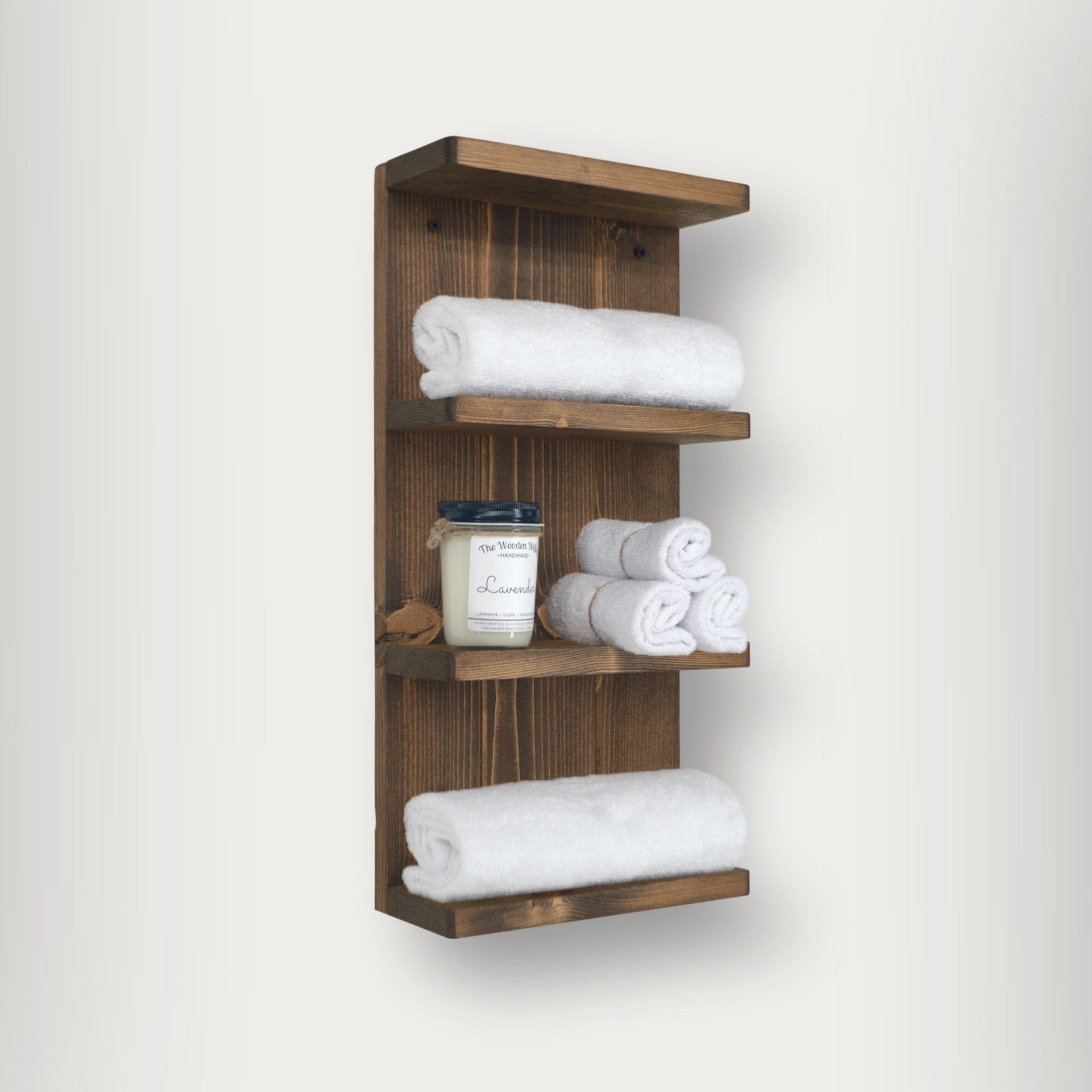 Bathroom Shelf Four Tier Bath Towel, Hotel Bathroom Towel Shelf
