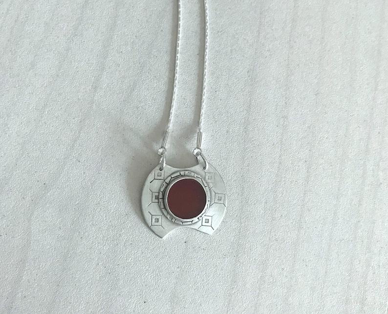 Carnelian Pendant Red Stone Pendant Handmade Silver Pendant Carnelian Jewelry