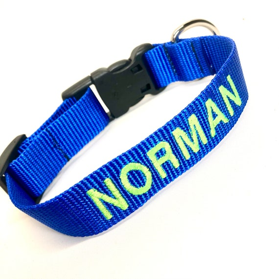 """Personalized Dog Collar Embroidered 1.5"""""""