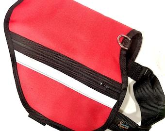Service Dog Adjustable Pocket Vest RED