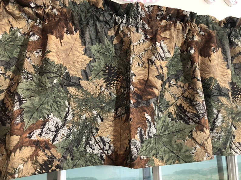 Boys Camouflage Black Out Valance ~ 40 Inches Wide