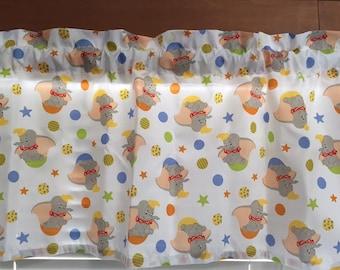 Dumbo Nursery Window Valance ~ 40 Inches Wide