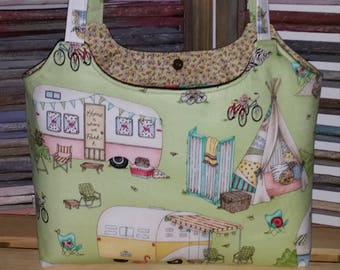 Glamping Purse Country Campers Tote