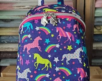 Unicorn Backpack,  Childs Unicorn Backpack