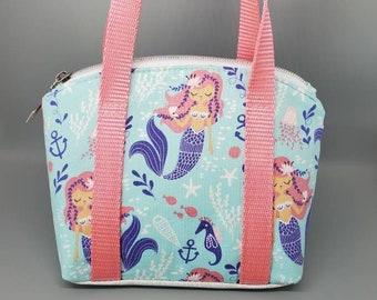 Mermaid Childs Purse,  Mermaid Small Zipper Purse