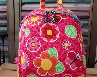 Flower and Butterfly Backpack