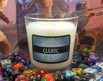Cleric -- RPG Class Inspired 8oz Scented Soy Candle