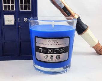 The Doctor -- Doctor Who Inspired 8 oz Scented Soy Candle