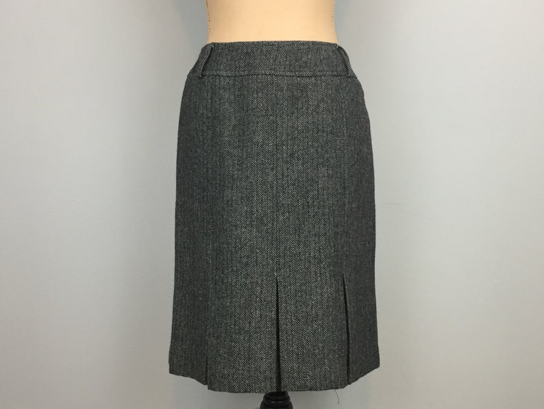 7ef4c5c6a Wool Tweed Skirt Gray Pleated Skirt Size 6 Fall Winter Womens | Etsy