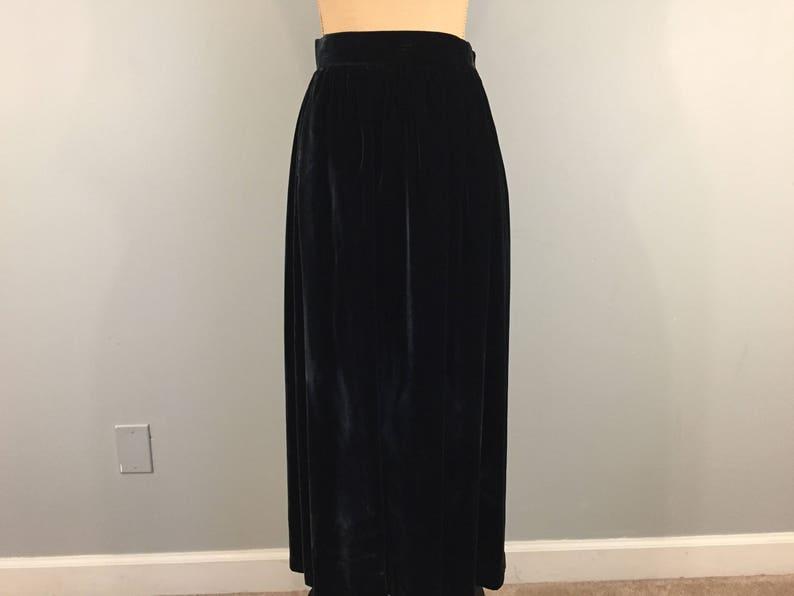 2b1de864c Midnight Blue Velvet Skirt Maxi 80s Evening Wear Formal Skirt | Etsy