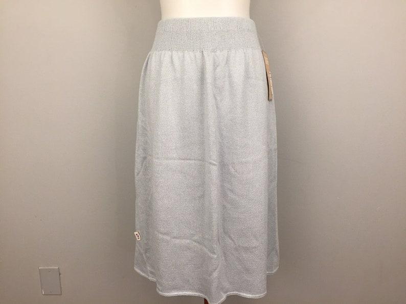 Sweater Skirt Knit 80s Womens Skirt Size 18 Light Gray New Vintage Elastic  Waist Skirt Deadstock 1980s New Vintage Womens Plus Size Clothing