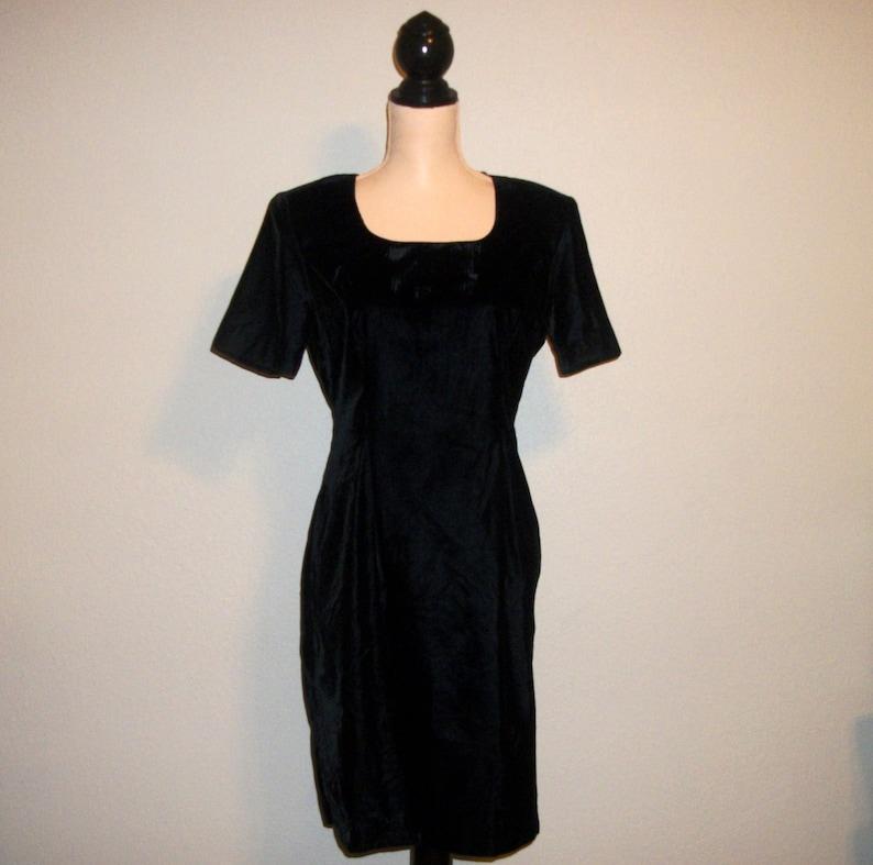 Short Sleeve Velvet Dress Black Cocktail Dress Short Formal  9360d9253